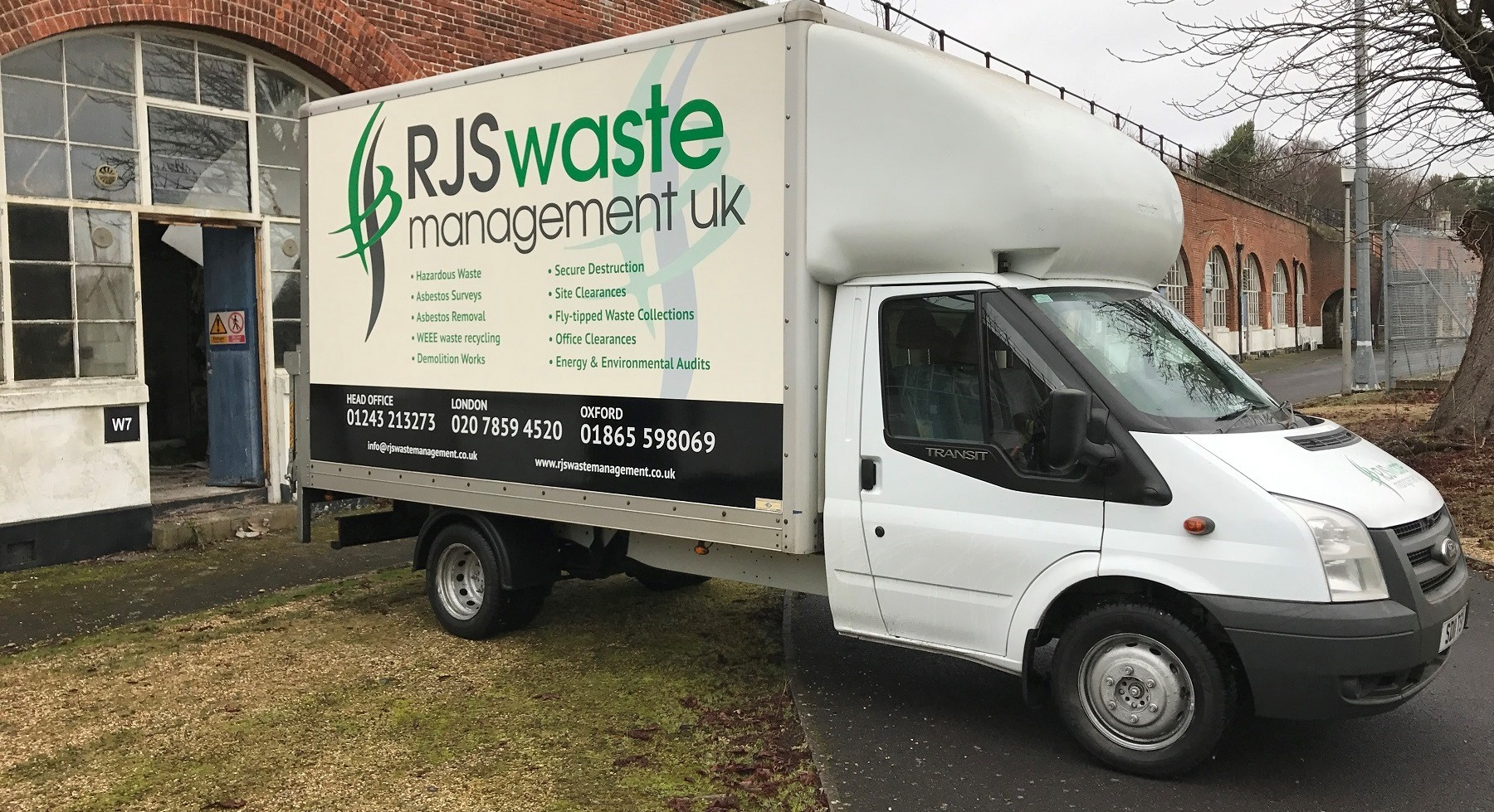 Safe removal of asbestos from RJS Wate Management UK Ltd, Chichester