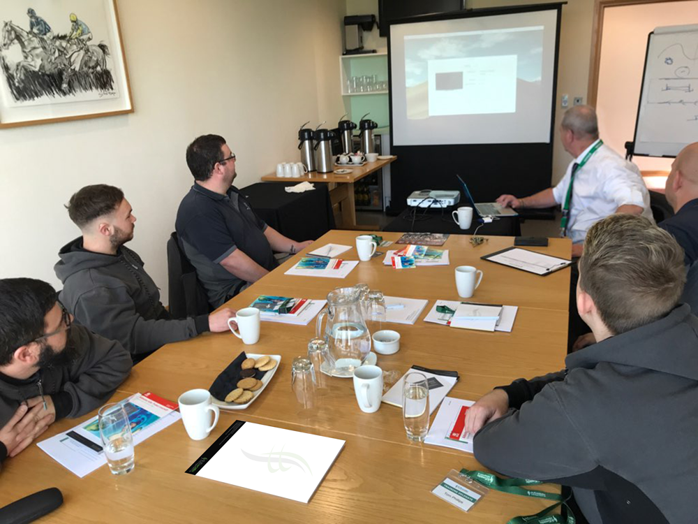 Delegates attending one of the health and safety courses provided by RJS Waste Management