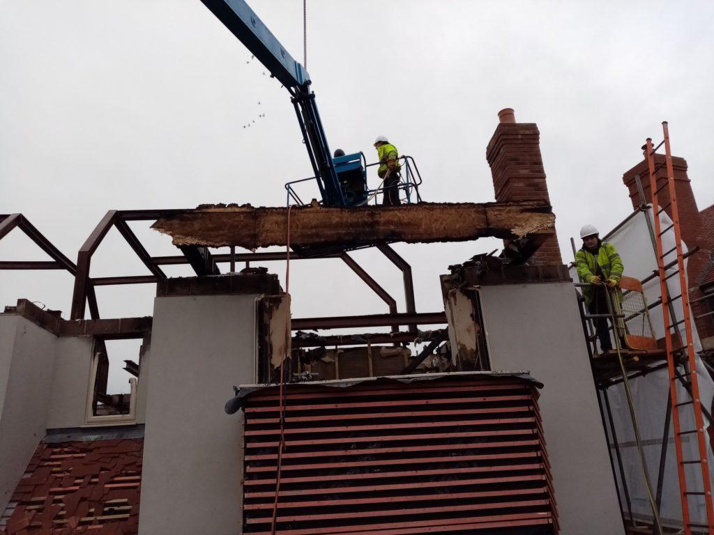 Demolition works in Winchester