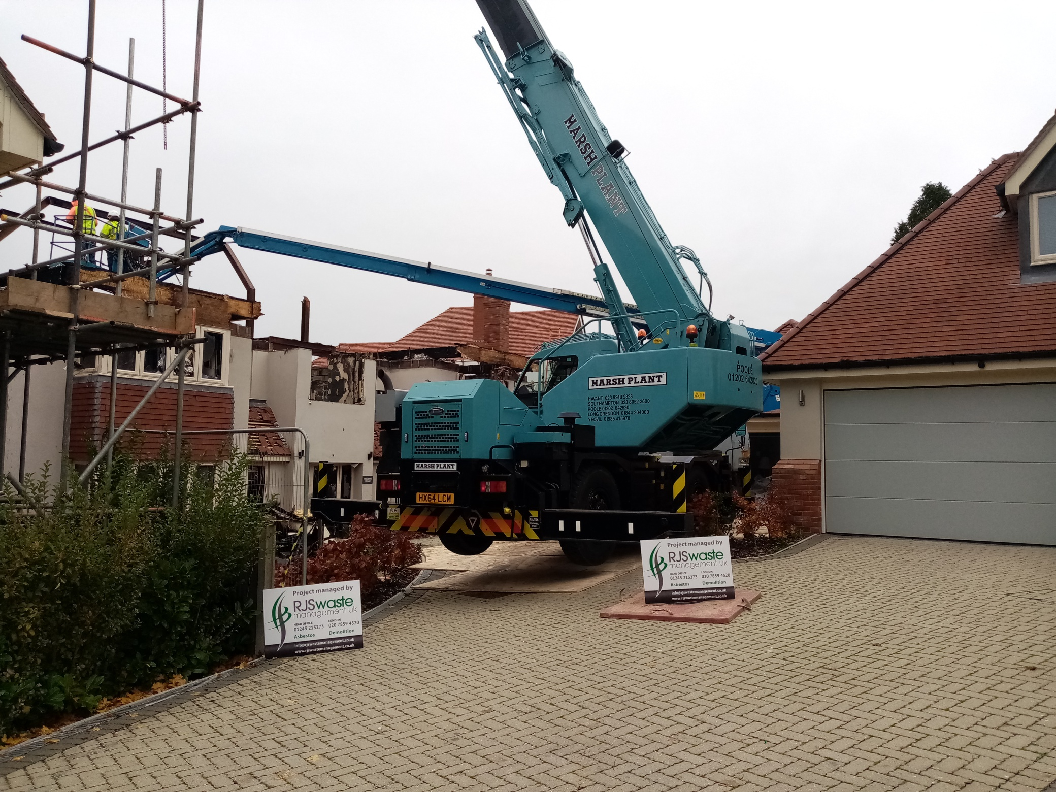 RJS Waste managing a building demolition in Winchester, Hampshire
