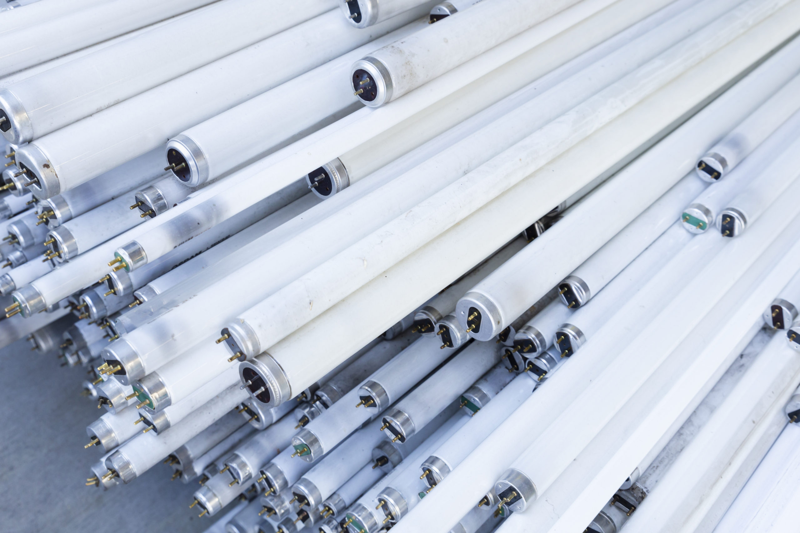Fluorescent light tubes for recycling