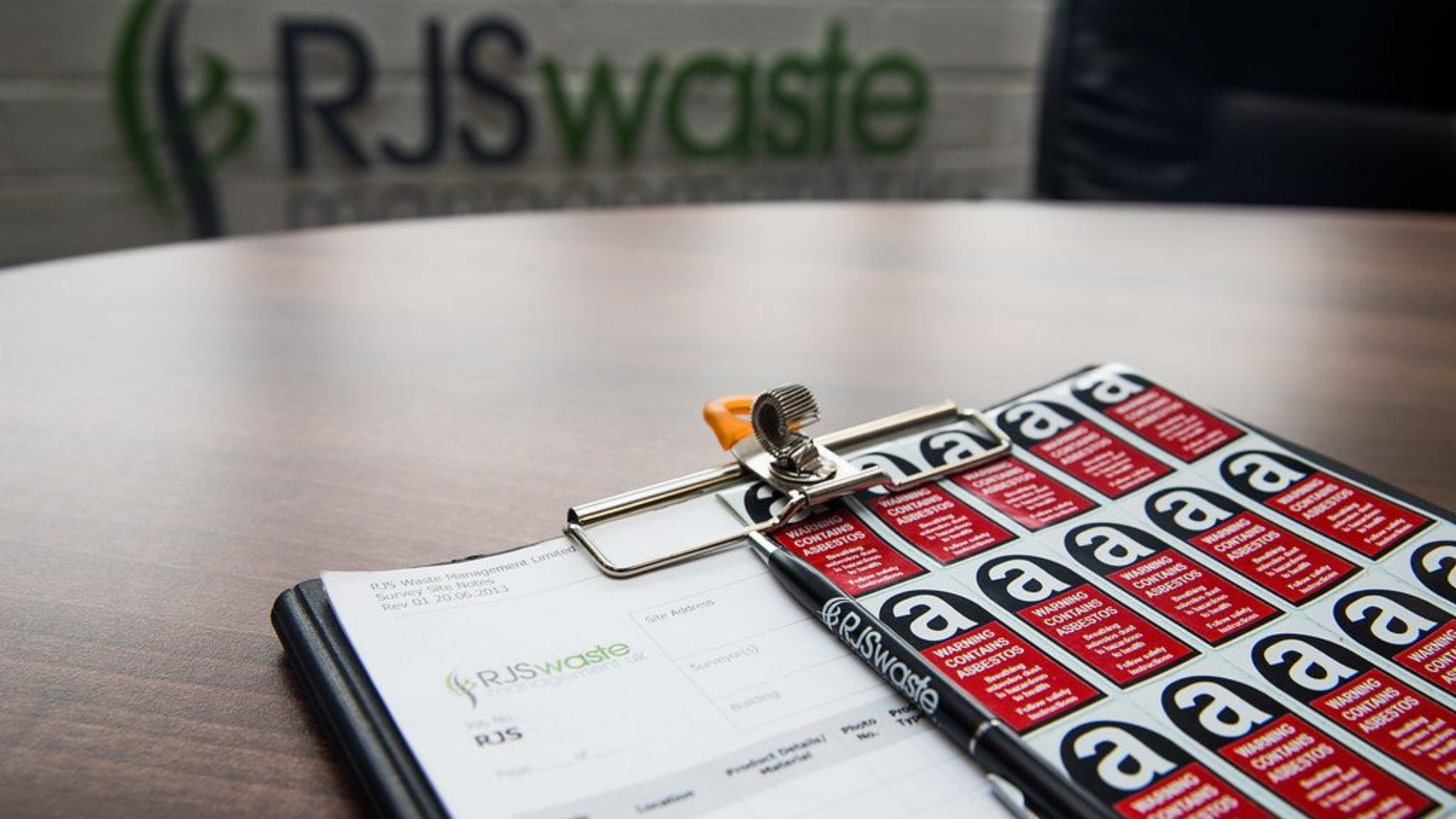 RJS Waste Management documents for Oxford asbestos surveys