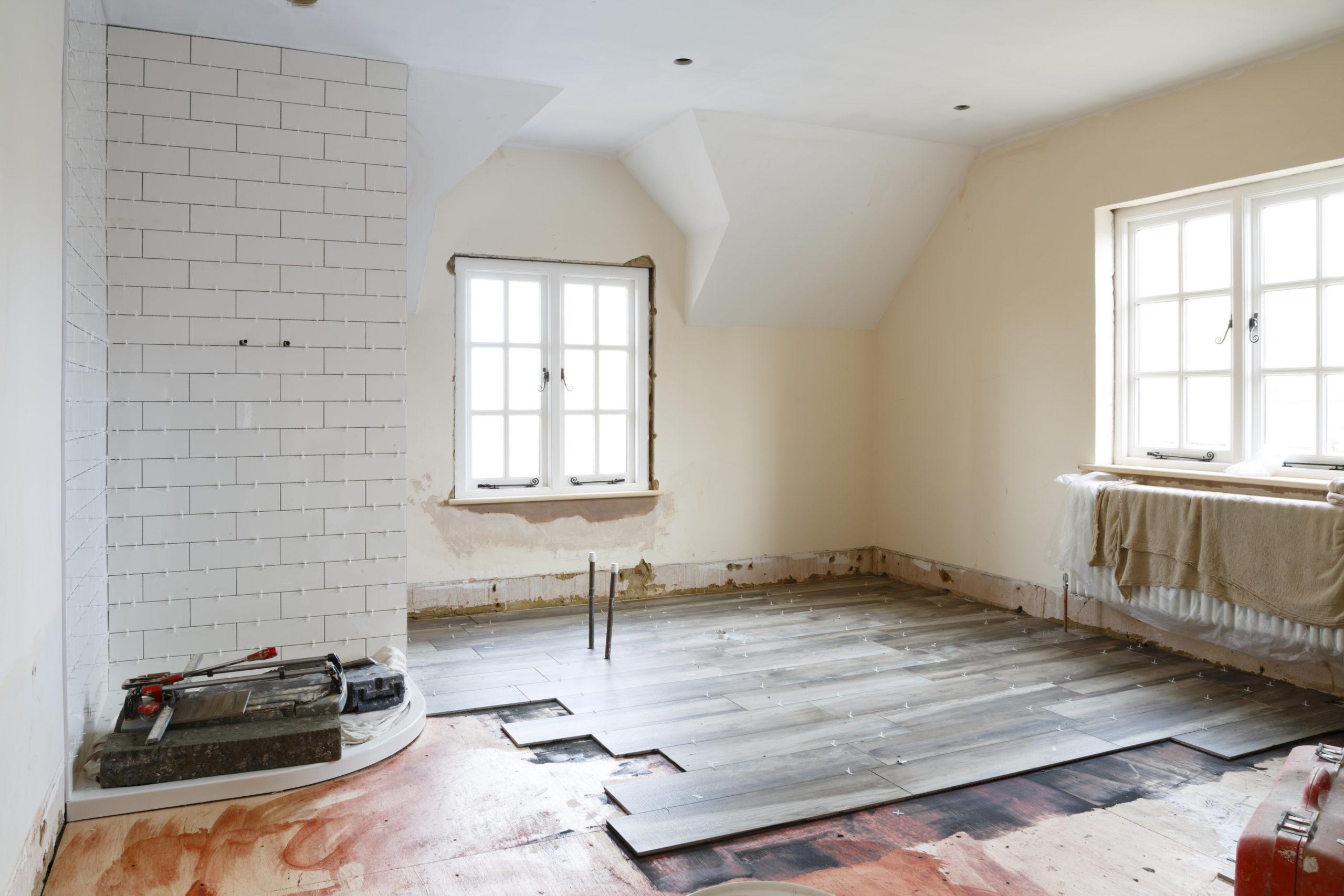 Bathroom tiling installation for asbestos reinstatement works