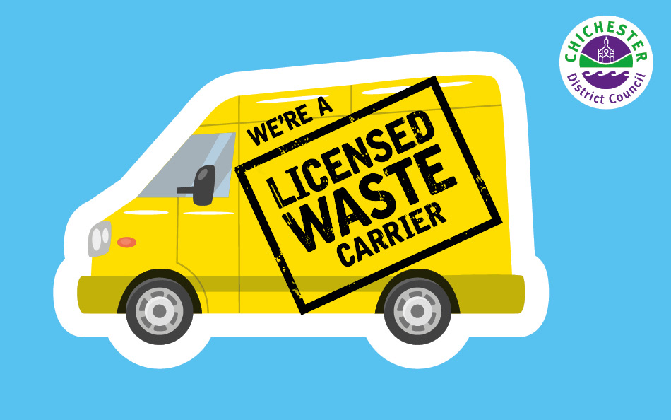 Chichester District Council licensed waste carrier logo